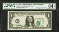 Error Notes:Shifted Third Printing, Fr. 1908-E $1 1974 Federal Reserve Note. PMG Choice Uncirculated 64 EPQ.. ...