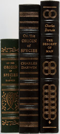 Books:Science & Technology, Charles Darwin. Group of Three. Easton Press. Publisher's binding. Slight scuffing to gilt. Some light rubbing on bottom cor... (Total: 3 Items)