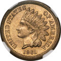 Indian Cents, 1861 1C MS66 NGC. CAC....
