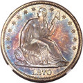 Seated Half Dollars, 1870 50C MS64 NGC....