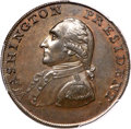 Colonials, 1791 1C Washington Small Eagle Cent MS65+ Brown PCGS. CAC.Baker-16, W-10630, R.3....