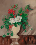 Mainstream Illustration, NILS CEDERBORG (Swedish, 1889-1971). Christmas Bouquet, TheNorcross Greeting Card Collection. Oil on canvas board. 13.2...