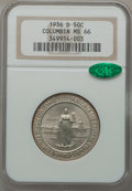 Commemorative Silver: , 1936-D 50C Columbia MS66 NGC. CAC. NGC Census: (645/233). PCGSPopulation (569/193). Mintage: 8,009. Numismedia Wsl. Price ...