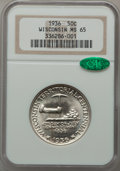 Commemorative Silver: , 1936 50C Wisconsin MS65 NGC. CAC. NGC Census: (1322/1615). PCGSPopulation (2226/1987). Mintage: 25,015. Numismedia Wsl. Pr...
