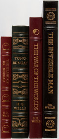 Books:Literature 1900-up, H.G. Wells. Group of Four. Easton Press. Titles include TheInvisible Man, The War of the Worlds, Tono-Bungay, andThe... (Total: 4 Items)