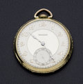 Timepieces:Pocket (post 1900), Tavannes 21 Jewel Gold Filled Pocket Watch. ...