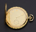 Timepieces:Pocket (post 1900), Swiss 14k Gold 54 mm Hunters Case . ...