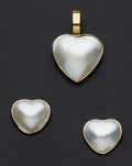 Estate Jewelry:Suites, Cultured Mabe Pearl Suite. ... (Total: 2 Items)
