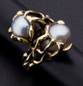 Estate Jewelry:Rings, Cultured Pearl, Gold Ring. ...