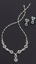 Estate Jewelry:Suites, Emerald, Diamond, Gold Jewelry Suite. ... (Total: 2 Items)