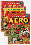 Golden Age (1938-1955):War, Captain Aero Comics #7 and 8 Group (Holyoke Publications, 1942)....(Total: 3 Comic Books)