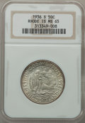 Commemorative Silver: , 1936-S 50C Rhode Island MS65 NGC. NGC Census: (608/203). PCGSPopulation (727/229). Mintage: 15,000. Numismedia Wsl. Price ...