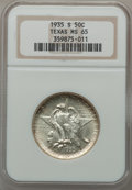 Commemorative Silver: , 1935-S 50C Texas MS65 NGC. NGC Census: (508/524). PCGS Population(845/468). Mintage: 10,000. Numismedia Wsl. Price for pro...