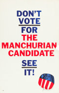 """Movie Posters:Thriller, The Manchurian Candidate (United Artists, 1962). Promotional Poster (14"""" X 22"""").. ..."""