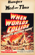"Movie Posters:Science Fiction, When Worlds Collide (Paramount, 1951). Window Card (14"" X 22"").. ..."