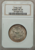 Commemorative Silver: , 1936 50C Albany MS65 NGC. NGC Census: (1156/659). PCGS Population(1456/907). Mintage: 17,671. Numismedia Wsl. Price for pr...