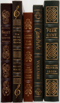 Books:Literature 1900-up, [Literature]. Group of Five. Easton Press. Publisher's binding.Titles include Candide, Peer Gynt, Faust, and others. Sl...(Total: 5 Items)