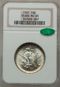 Commemorative Silver: , 1937 50C Texas MS65 NGC. CAC. NGC Census: (440/432). PCGSPopulation (650/464). Mintage: 6,571. Numismedia Wsl. Price forp...