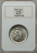 Commemorative Silver: , 1937 50C Texas MS65 NGC. NGC Census: (440/432). PCGS Population(650/464). Mintage: 6,571. Numismedia Wsl. Price for proble...