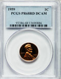 Proof Lincoln Cents, 1959 1C PR68 Red Deep Cameo PCGS....