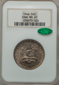 Commemorative Silver: , 1946 50C Iowa MS67 NGC. CAC. NGC Census: (716/38). PCGS Population(763/62). Mintage: 100,057. Numismedia Wsl. Price for pr...
