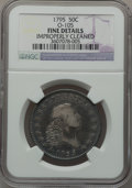 Early Half Dollars, 1795 50C 2 Leaves -- Improperly Cleaned -- NGC Details. Fine.O-105, R.4....