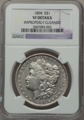 Morgan Dollars, 1894 $1 -- Improperly Cleaned -- NGC Details. VF....