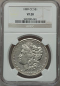Morgan Dollars, 1889-CC $1 VF20 NGC....