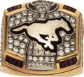 Football Collectibles:Others, 2008 Calgary Stampeders Grey Cup Championship CFL Player's Ring....