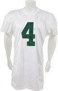 Football Collectibles:Uniforms, 2001 Brett Favre Thanksgiving Day Game Worn Green Bay Packers Jersey....