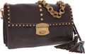 Luxury Accessories:Bags, Prada Brown Leather Convertible Shoulder Bag and Clutch. ...