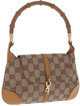 Gucci Classic GG Monogram Canvas and Bamboo Top Handle Bag