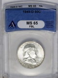 1949-D 50C MS65 Full Bell Lines ANACS. NGC Census: (102/1). PCGS Population (342/16). Numismedia Wsl. Price: $625. (#866...