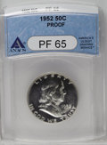 Proof Franklin Half Dollars: , 1952 50C PR65 ANACS. NGC Census: (401/691). PCGS Population (919/546). Mintage: 81,980. Numismedia Wsl. Price: $188. (#6693...
