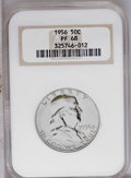1956 50C Type Two PR68 NGC. NGC Census: (937/30). PCGS Population (589/28). Mintage: 669,384. Numismedia Wsl. Price: $72...
