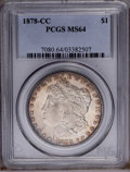 Morgan Dollars: , 1878-CC $1 MS64 PCGS. PCGS Population (4679/1616). NGC Census: (3209/930). Mintage: 2,212,000. Numismedia Wsl. Price: $492....