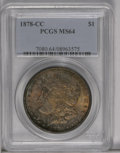 Morgan Dollars: , 1878-CC $1 MS64 PCGS. PCGS Population (4679/1615). NGC Census: (3221/945). Mintage: 2,212,000. Numismedia Wsl. Price: $492....