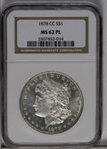 1878-CC $1 MS62 Prooflike NGC. NGC Census: (121/679). PCGS Population (269/865). Numismedia Wsl. Price: $204. (#7081)...