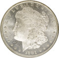 1881-O $1 MS63 Deep Mirror Prooflike NGC. NGC Census: (125/60). PCGS Population (156/119). Numismedia Wsl. Price: $140...