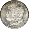 1881-S $1 MS65 Deep Mirror Prooflike NGC. NGC Census: (298/103). PCGS Population (204/72). Mintage: 930,150. (#97131)...
