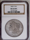 Morgan Dollars: , 1883-O $1 MS64 Deep Mirror Prooflike NGC. NGC Census: (262/54). PCGS Population (432/98). Numismedia Wsl. Price: $228. (#9...