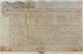 Autographs:Non-American, [Charles II]. English Land Indenture....