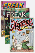 Modern Age (1980-Present):Alternative/Underground, Underground Comix Group (Various Publishers, 1970s) Condition:Average VG.... (Total: 4 Comic Books)