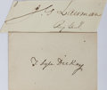 Autographs:Military Figures, [Civil War]. Group of Two Fourth Illinois Calvary Signatures... (Total: 2 Items)