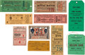 Boxing Collectibles:Memorabilia, 1910-1967 Boxing Ticket Stubs Lot of 10....