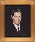 Movie/TV Memorabilia:Original Art, A Milton Berle Pastel Portrait by Nicholas Volpe, Circa 1960s....