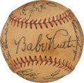 Autographs:Baseballs, 1933 American League All-Star Team Signed Baseball (Traced)....