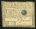 Colonial Notes:Massachusetts, Massachusetts May 5, 1780 $20 Fine.. ...