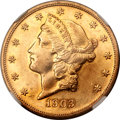 Proof Liberty Double Eagles, 1903 $20 -- Soldered -- NGC Details. Proof, AU Details....