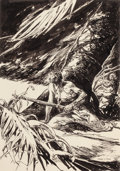 Pin-up and Glamour Art, HENRY CLARENCE PITZ (American, 1895-1976). Drakes Sword, bookillustration. Pen and ink on board. 12 x 8.5 in. (image). ...